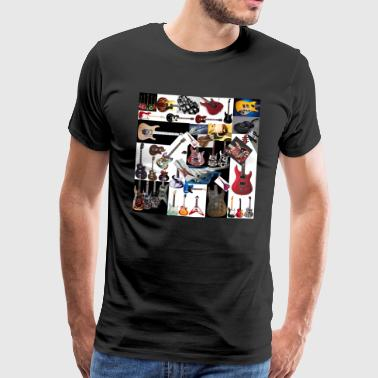 guitar_collage - Men's Premium T-Shirt