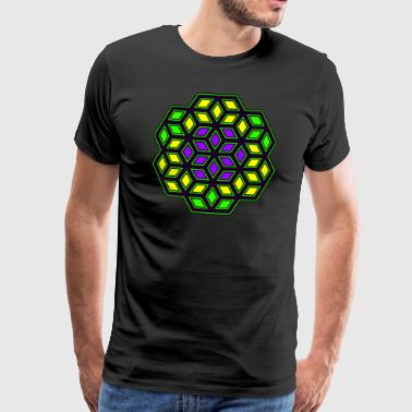 Goa Geometry - Pattern - Mandala - Goa - Psy - Yoga - Men's Premium T-Shirt