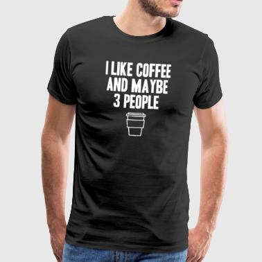 Cafe Coffee Bean espresso - Men's Premium T-Shirt