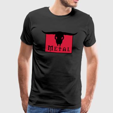 Black Power Crâne en métal - T-shirt Premium Homme