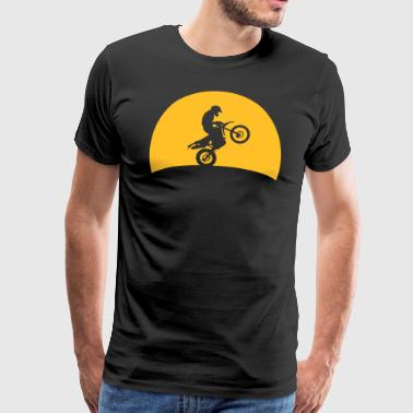 Enduro Cross in sunset  - Men's Premium T-Shirt