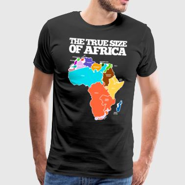 THE TRUE SIZE OF AFRICA - Mannen Premium T-shirt