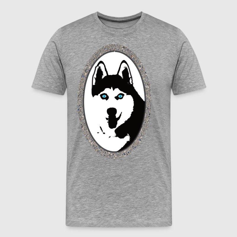 Husky im Betonrahmen von Perlenundmehr | Spreadshirt