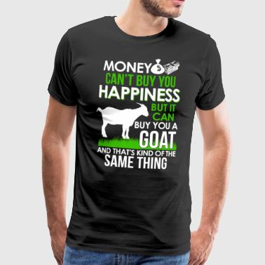 Money can´t buy Happiness - but a Goat - Männer Premium T-Shirt