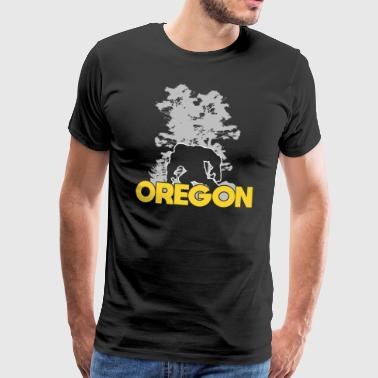 Bigfoot Oregon Sasquatch - Premium-T-shirt herr