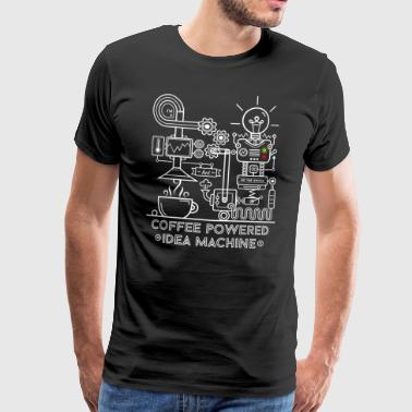 Coffee powered Idea Machine - Mannen Premium T-shirt
