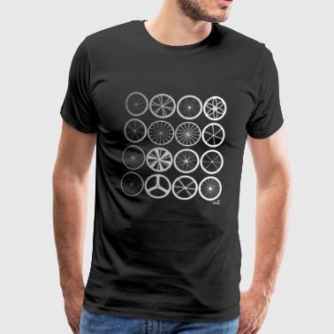 Bike wheels land silver - T-shirt Premium Homme