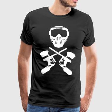 Paintball mask and gun - Men's Premium T-Shirt