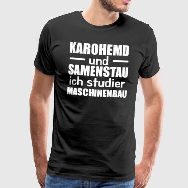 Gecontroleerd shirt en zaadjam Mechanical Engineering Student w - Mannen Premium T-shirt