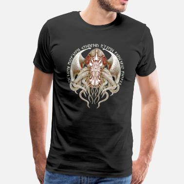 Poppycock And Cheapskate Cthulhu Got Wings Vintage Style No.2 Men's Premium - Men's Premium T-Shirt