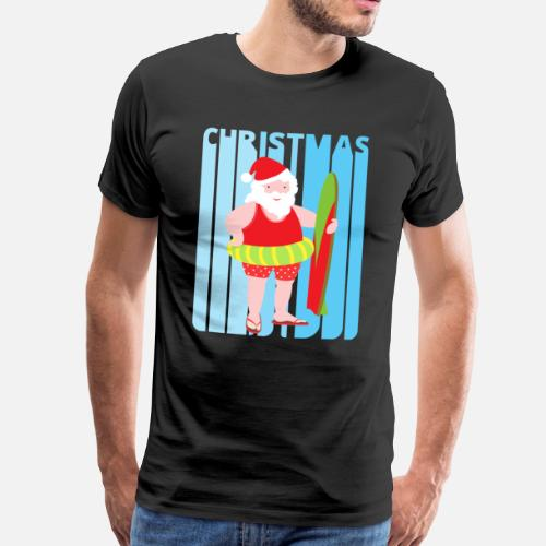 Funny Vintage Humourous Christmas Santa on holiday by SecretGallery ...