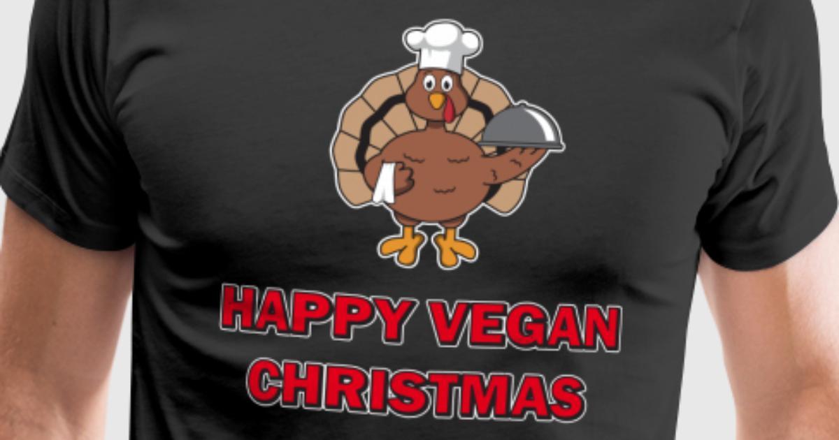 Lustiges glückliches Vegan Noel Weihnachten die Türkei-Chef-Geschenk ...