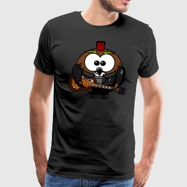 Coole Rocker Eule Illustration - Männer Premium T-Shirt