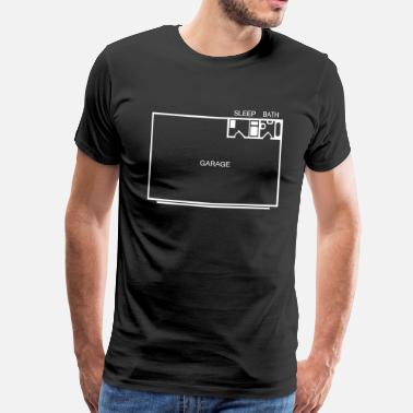 Appartement Men Flat - Mannen Premium T-shirt