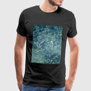 texture of the sea - Men's Premium T-Shirt