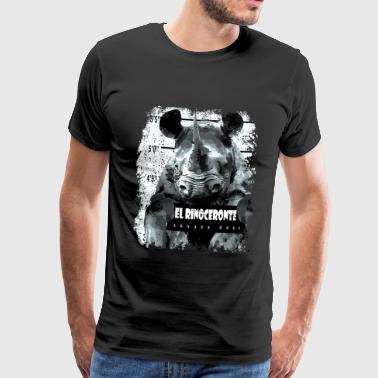 Animal Print - El Rinoceronte - Men's Premium T-Shirt