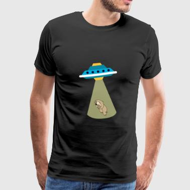 Ufo Baby Alien Baby Sloth UFO Abduction Cute - Men's Premium T-Shirt