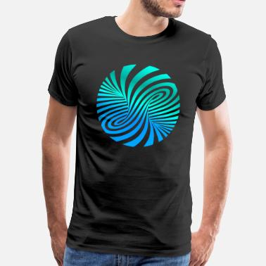 Illusion psychedelic Optik Illusion Türkis optical Art 60er - Männer Premium T-Shirt