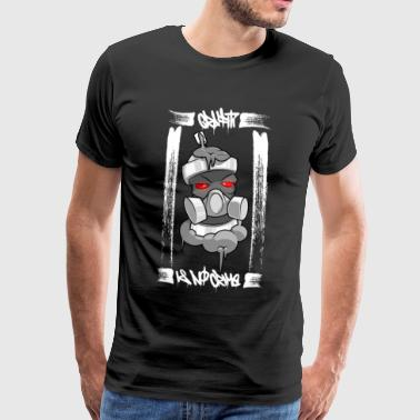 Graffiti is geen misdaad - Mannen Premium T-shirt
