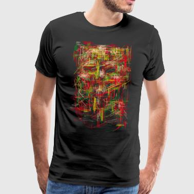 Skull rug / Abstract pattern - Men's Premium T-Shirt