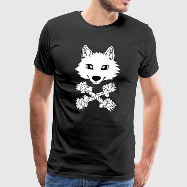 Chien loup Pirate - T-shirt Premium Homme