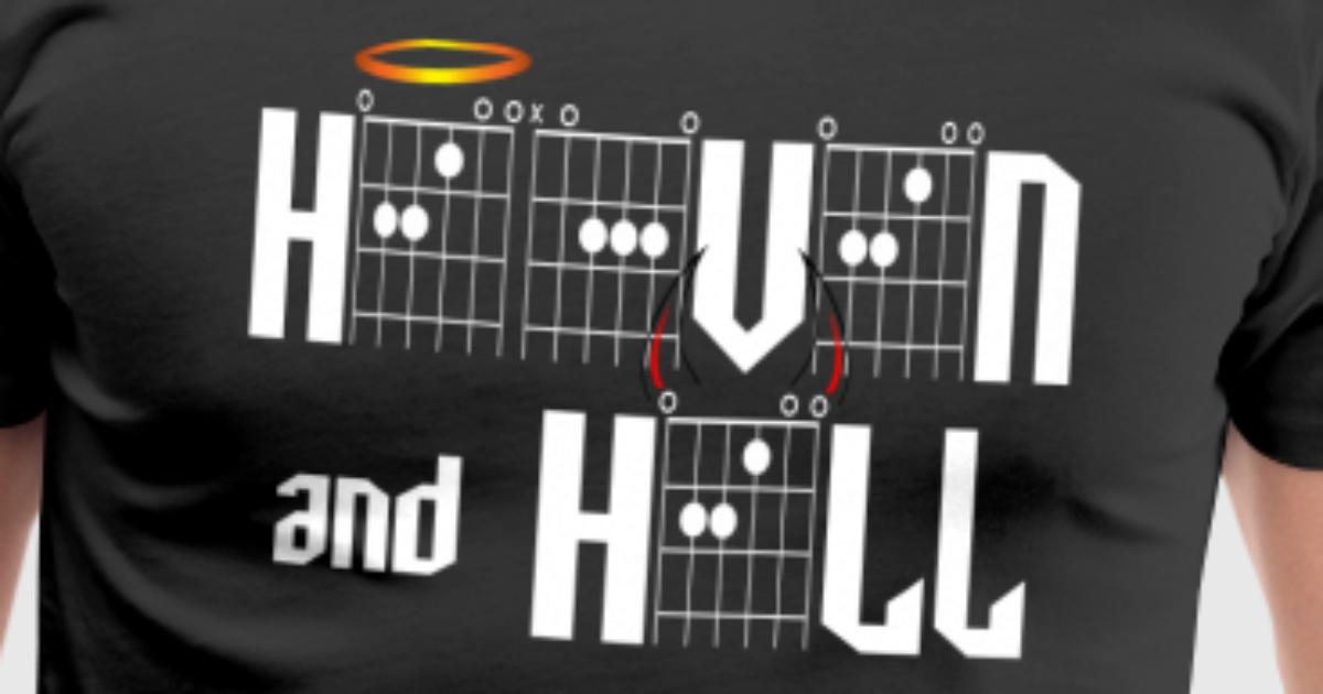 Heaven And Hell In Guitar Chords By Daddy Star Spreadshirt