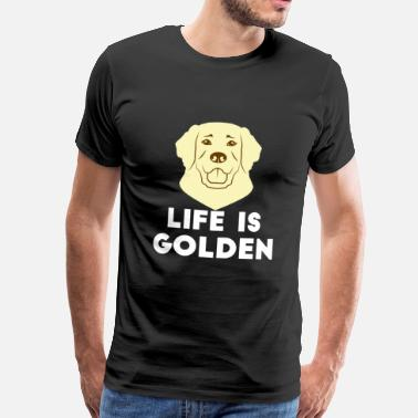 Golden Retriever Golden Retrievers - Herre premium T-shirt
