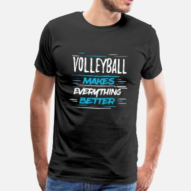 Love Volleyball retro vintage volleyball t shirt Mens Present Quot - Men's Premium T-Shirt