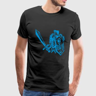 Human warrior knight paladin RPG tank fantasy - Men's Premium T-Shirt