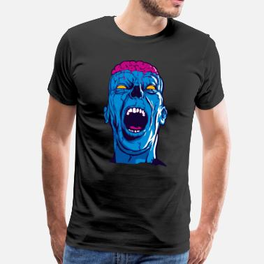 Zombie Screaming Zombie - Männer Premium T-Shirt