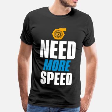 Need For Speed NEED MORE SPEED - TURBO SYMBOL - Männer Premium T-Shirt