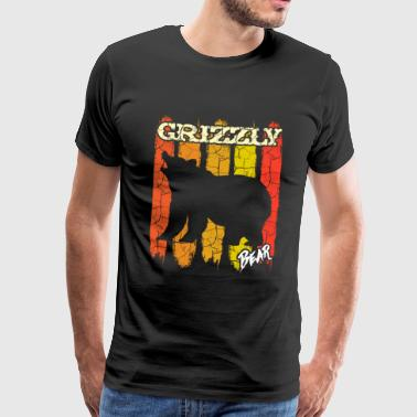 Grizzly Bear North America Wild Gift - Premium-T-shirt herr