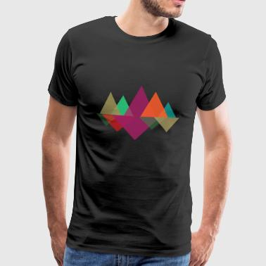 Hipster Mountains - Herre premium T-shirt
