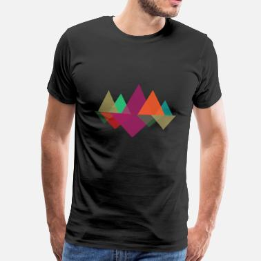 Hipster Mountains - Premium T-skjorte for menn