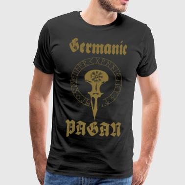 Germanska PAGAN - Premium-T-shirt herr