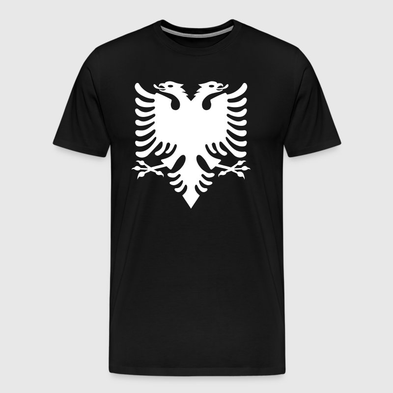 white Albanian eagle Albanian Double Eagle - Men's Premium T-Shirt