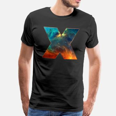 Cosmos Space X, cosmos, universe, space, galaxy - T-shirt Premium Homme