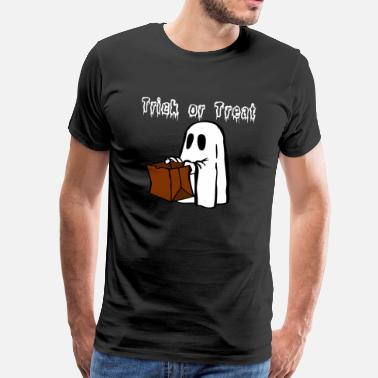 Kattenkwaad Ghost Trick or Treat - Mannen Premium T-shirt