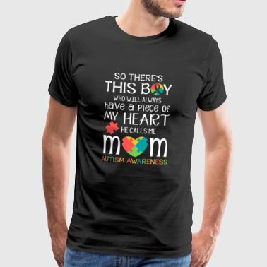 This boy piece of my heart - Autism Awareness  - Premium-T-shirt herr
