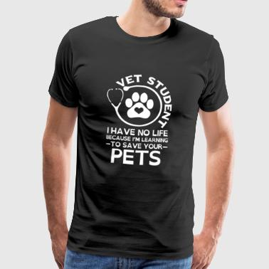Vet Student to save your Pets - Men's Premium T-Shirt