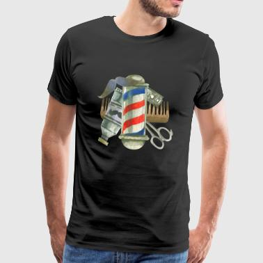 Cool Barber Tools. Cadeaus voor Kapper, Stylist Salon - Mannen Premium T-shirt