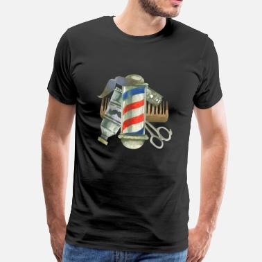 Barber Cool Barber Tools. Gifts for Barber, Stylist Salon - Men's Premium T-Shirt