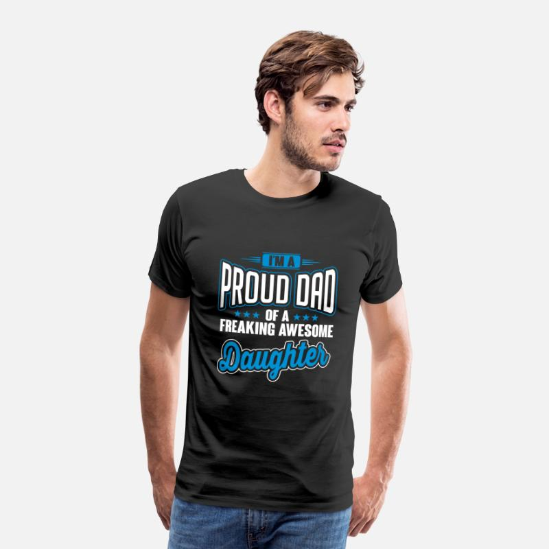 Dad T-shirts - I'm a proud dad of awesome daughter - Premium T-shirt herr svart