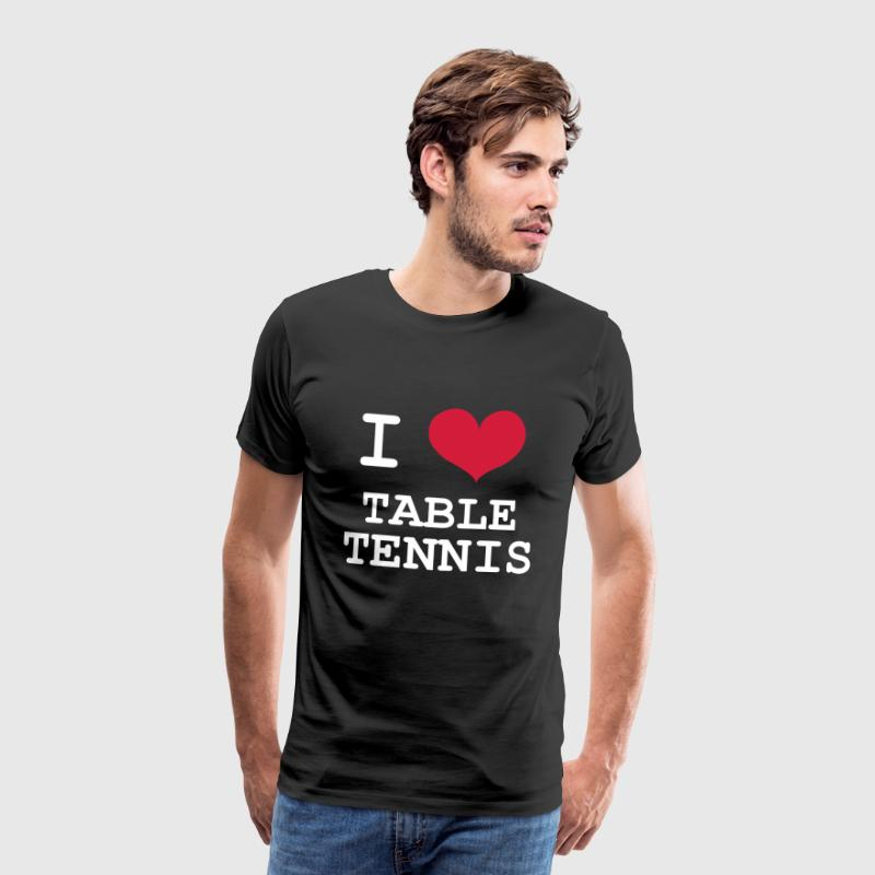 I Love Table Tennis - Koszulka męska Premium