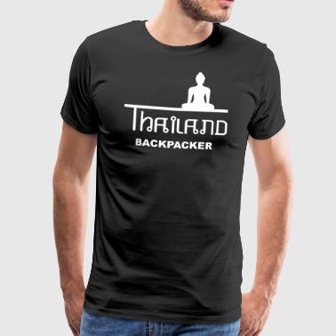 Thailand Backpacking Azië Boeddha - Mannen Premium T-shirt