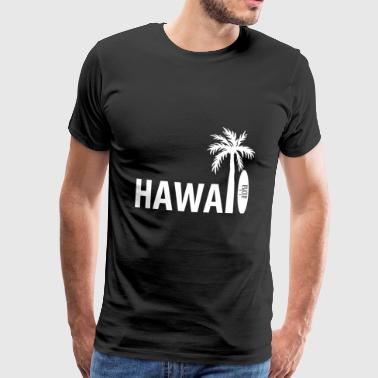 Hawaii surfboard palm tree - Men's Premium T-Shirt