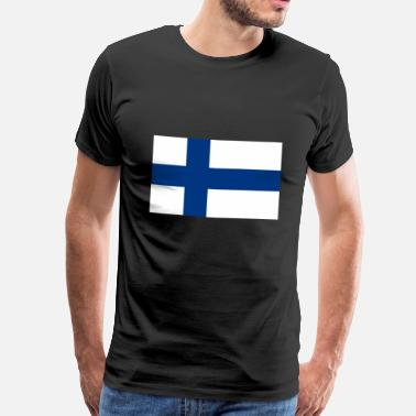 Finland Finnish flag - Men's Premium T-Shirt