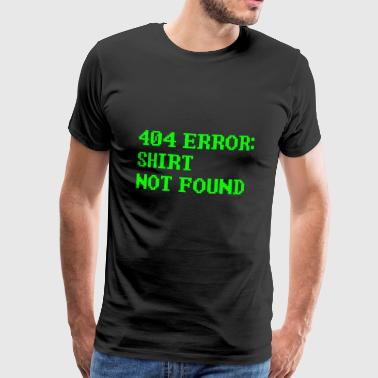 404 Error Computer Nerd outsider computer science - Men's Premium T-Shirt