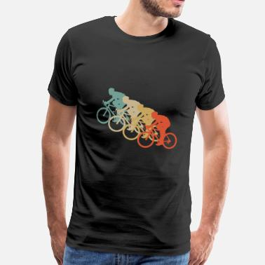 Kids Bike Retro Vintage Style Bicycle Cycling Two Wheel Sport - Men's Premium T-Shirt