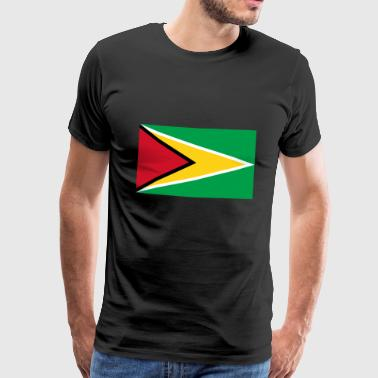 Guyana flag - Men's Premium T-Shirt